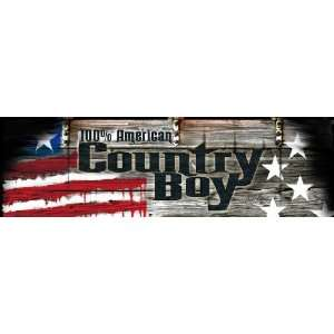 Grafix Jam Country Boy Rear Window Decal Automotive