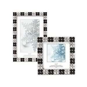 Black & Diamond Rhinestone Picture Frame   4 x 6