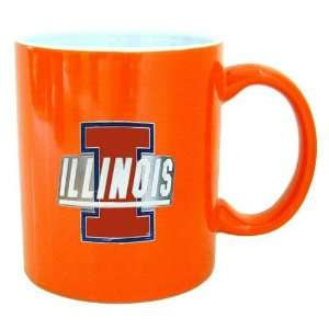Illinois Fighting Illini NCAA 2 Tone Coffee Mug Sports & Outdoors