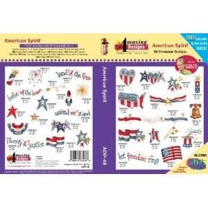 American Spirit Embroidery Designs by Nancy Zieman for Amazing Designs