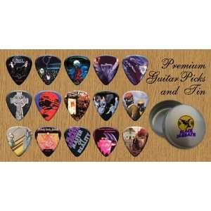 Black Sabbath 15 Premium Guitar Picks Tin (G) Musical Instruments