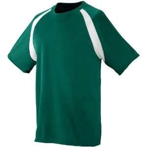 Block Custom Soccer Jersey DARK GREEN/ WHITE YL