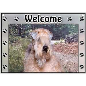Soft Coated Wheaten Welcome Sign Patio, Lawn & Garden