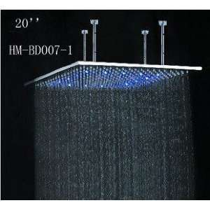 Steel Shower Head with Color Changing LED Light Patio, Lawn & Garden