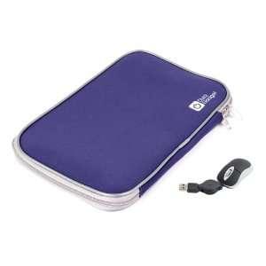 DURAGADGET Blue 17 Neoprene Laptop Zip Case With USB Mini