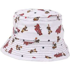Infant Allover Logo Bucket Hat   White