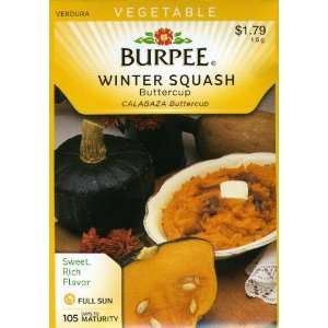 Burpee 61078 Squash, Winter Buttercup Seed Packet Patio