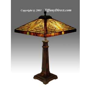 Tiffany Style Stained Glass Table Desk Lamp Navajo Mission