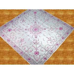 Handmade Beaded Sheer Table Cloth Topper Tablecloth 40