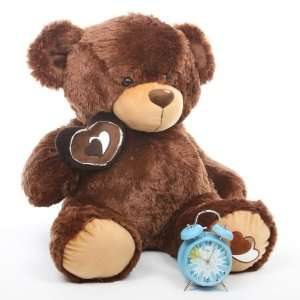 Brown Valentines Day Love Heart Large Teddy Bear by Giant Teddy