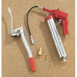 Deluxe Air / Hand Operated Grease Gun Set