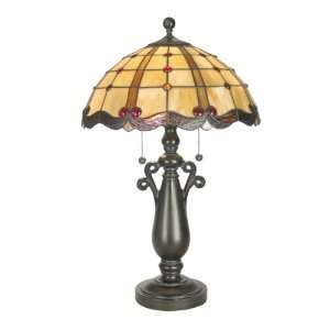 Dale Tiffany TT60567 Sacha Table Lamp, Mica Bronze and Art Glass Shade