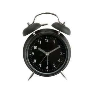 Present Time Karlsson Twin Bell Alarm Clock, Matte Black