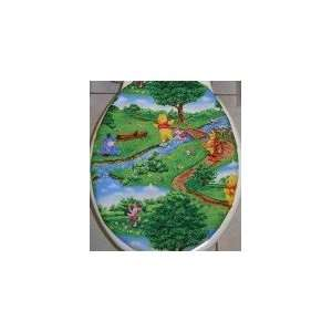 FABRIC TOILET SEAT LID COVER made from WINNIE THE POOH