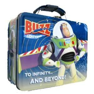 Toy Story Buzz Lightyear Metal Boys Tin Lunch Box  Toys & Games