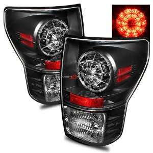 07 10 Toyota Tundra LED Tail Lights   Black Automotive