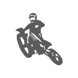 Motocross DARK GREY Vinyl window decal sticker