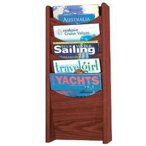 Safco Wood Five Pocket Wall Mount Literature Display