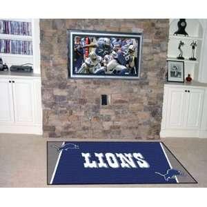 Detroit Lions 4x6 NFL Area Rug
