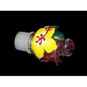 Hibiscus Design   Wine Bottle Stopper