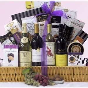 Wine Delights Four Bottle Gift Basket