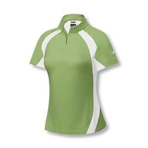 Adidas 2007 Womens ClimaCool Motion Short Sleeve Colorblock Mock Golf