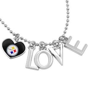 NFL Touch by Alyssa Milano Pittsburgh Steelers Love Necklace with