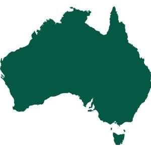 Australia Removable Wall Sticker, Fl. Orange, S