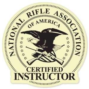 NRA certified instructor Guns rifles pistol car bumper sticker 4 x 4