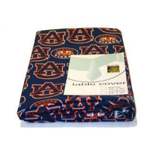 Auburn University AU Tigers Table Cover 54x54 by Broad Bay
