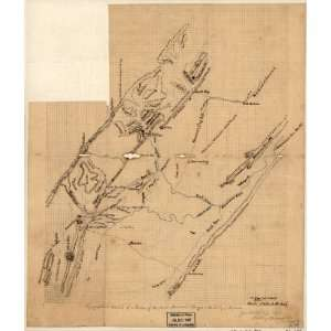 War Map Topographical sketch of a portion of the North Mountain Range