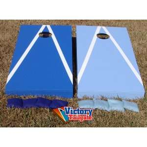 DARK BLUE & LIGHT BLUE Alternating Triangle Cornhole Bean