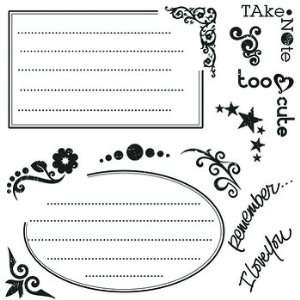 Little Yellow Bicycle Clear Stamp Set  Journal