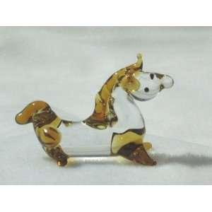 Collectibles Crystal Figurines Golden Horse Sitting