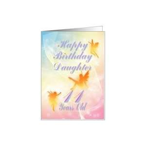 Dancing fairies Birthday card, Daughter, 11 years old Card : Toys