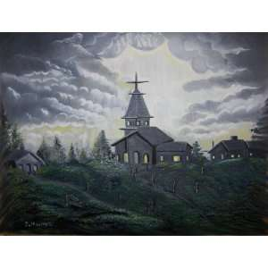 The Evening Church Service/color Print Home & Kitchen