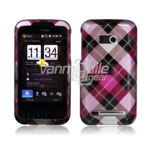 PINK ARGYLE DESIGN CASE COVER + LCD SCREEN PROTECTOR + CAR CHARGER for