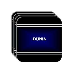 Personal Name Gift   DUNIA Set of 4 Mini Mousepad Coasters (black