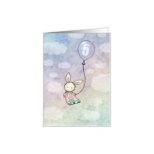 Sweet Bunny Five Year Old Birthday Card   5 years old Card : Toys