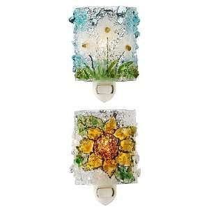 Recycled Glass Flower Night Lights Home & Kitchen