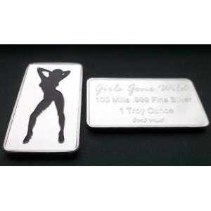 100 Mill .999 Fine Silver Girls Gone Wild #19 Art Bar *KromeProducts