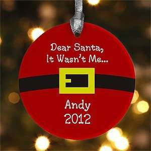 Personalized Christmas Ornaments   Santas Belt