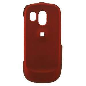 Premium Rubberized Red Snap on Cover for Samsung Caliber