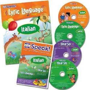 Your Baby Can Speak Lyric Language Italian Book/4 Discs (Lyric