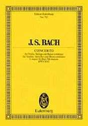 Violinkonzert E Dur BWV 1042, Partitur   Johann S. Bach  buecher.de