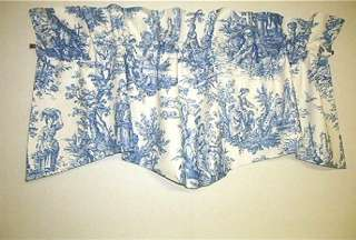 French Country Valance Waverly Country Life Toile Blue