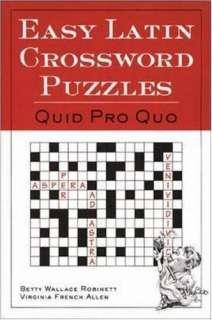 Easy Latin Crossword Puzzles: Quid Pro Quo   Compare Prices