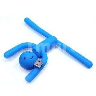 2GB Cute Guy Cartoon USB Flash Drive Blue   Tmart
