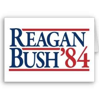 Reagan Bush 84 1984 vintage retro campaign Card from Zazzle
