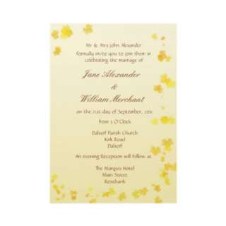 Fall / Autumn Leaves Formal Wedding Invitation by ArtformTheHeart